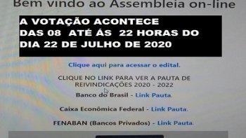 ASSEMBLEIA VIRTUAL PARA OS EMPREGADOS DO BANCO DO BRASIL, DA CAIXA ECONÔMICA FEDERAL, BRADESCO, SANTANDER E ITAÚ