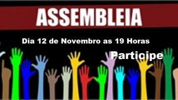 ASSEMBLEIA GERAL ORDINÁRIA DIA 12 DE NOVEMBRO EM RIO DO SUL