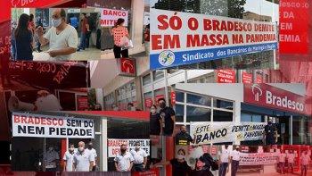 MANIFESTAÇÕES PELO BRASIL DENUNCIAM DEMISSÕES EM MASSA PELO BRADESCO
