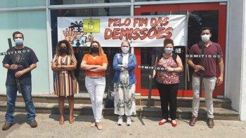 BANCÁRIOS INICIAM PROTESTOS CONTRA DEMISSÕES NO BRADESCO