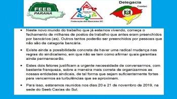 REFORMAS TRABALHISTA E SINDICAL SÃO TEMAS DO ENCONTRO DA REGIÃO SUL DOS BANCÁRIOS