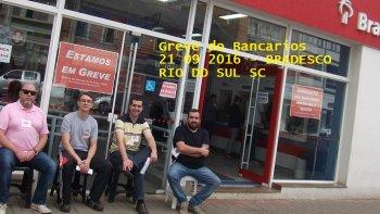 GREVE DOS BANCÁRIOS NA BASE DO SEEB RIO DO SUL E REGIÃO - SETEMBRO 2016