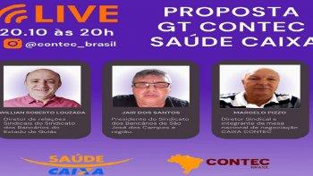 PROPOSTA GT CONTEC SAUDE CAXA  -  Live hoje as 20 Horas