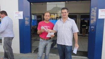 06 de Agosto 2015 - Mobilização na Caixa  MaisEmpregadosjá